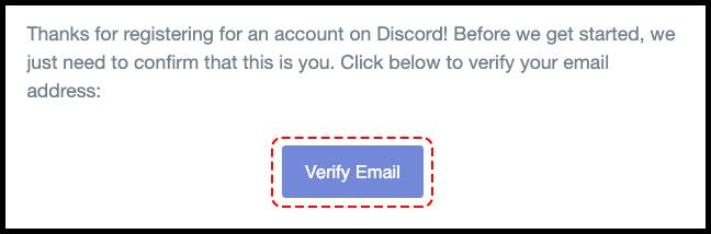 تایید ایمیل اکانت دیسکورد