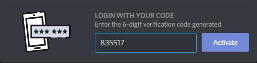 وارد کردن کد 6 رقمی